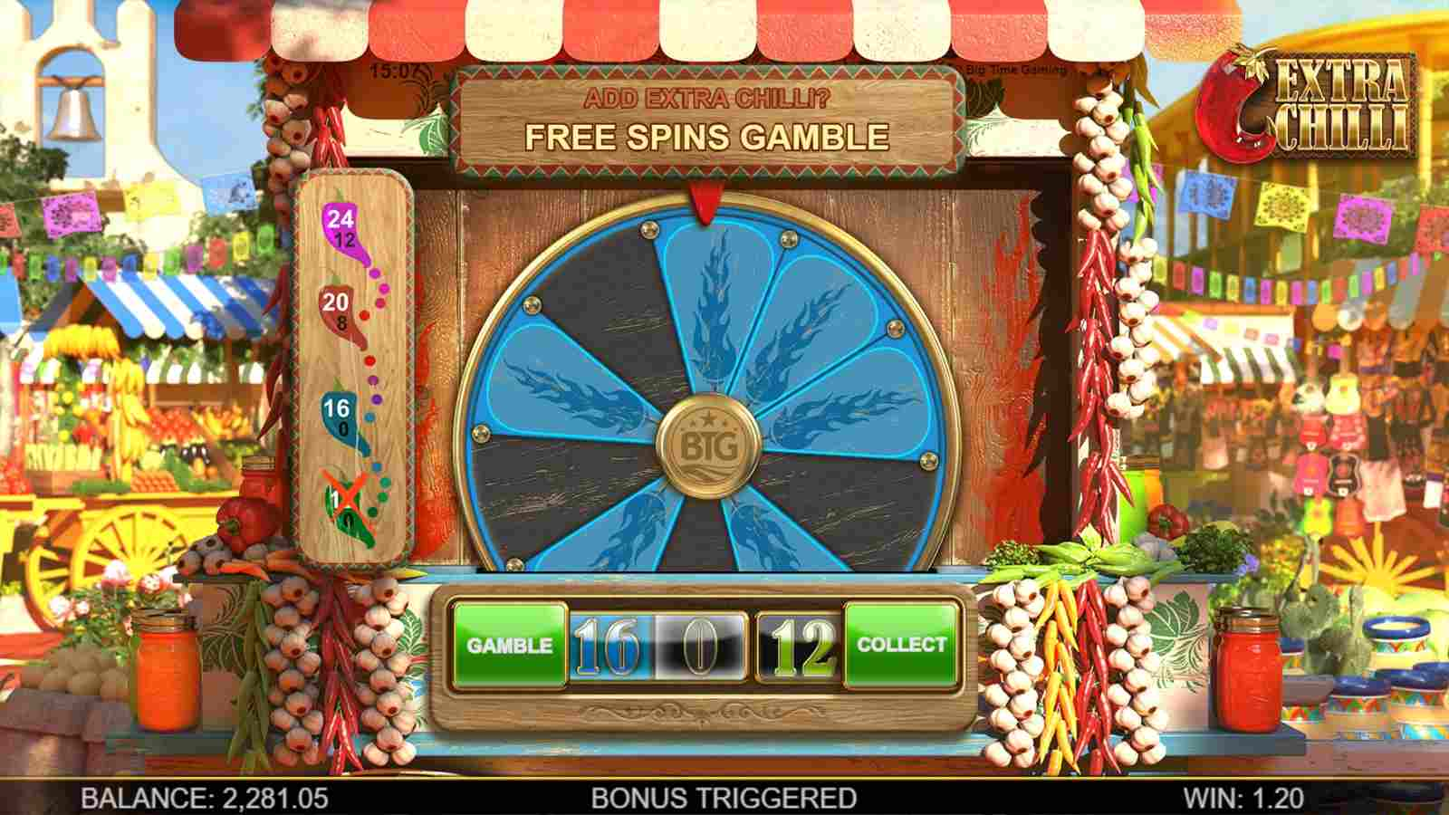 Extra Chilli slot free spins