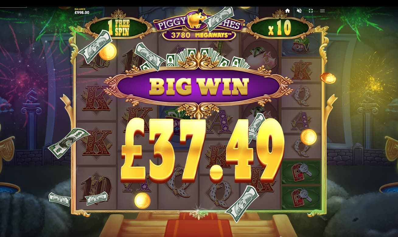 Piggy Riches big win